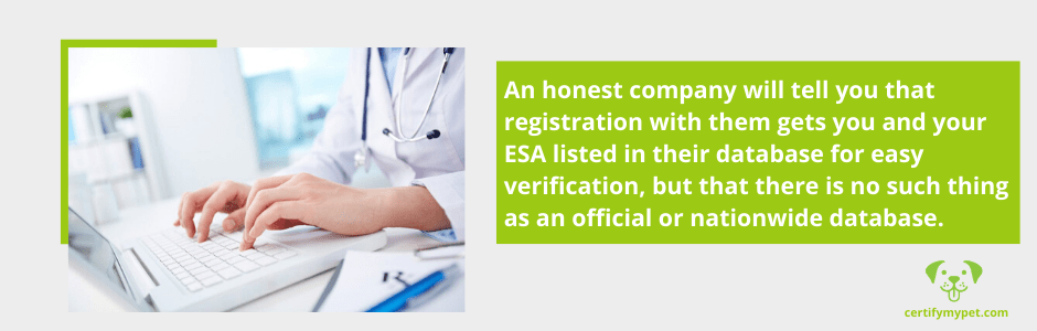 DON'T Pay for ESA Registration or an ESA Letter Without a Doctor's Consultation