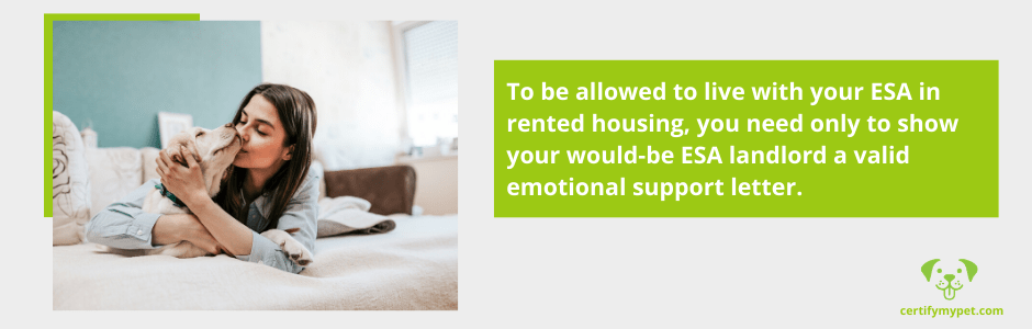 live with your ESA in rented housing