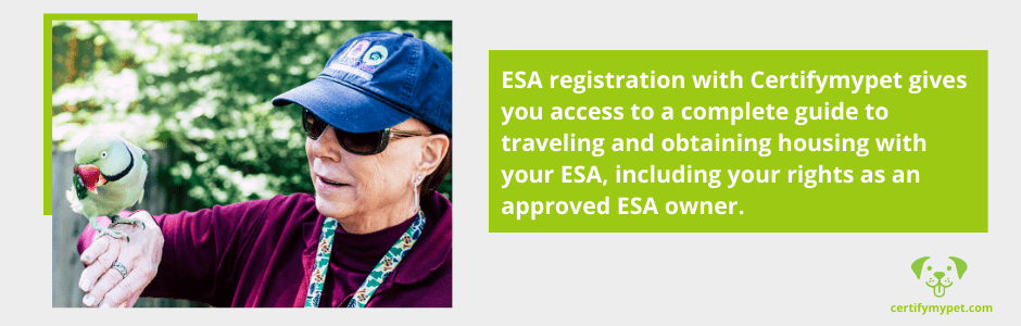 ESA registration with Certifymypet