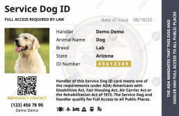 Service Dog ID Front